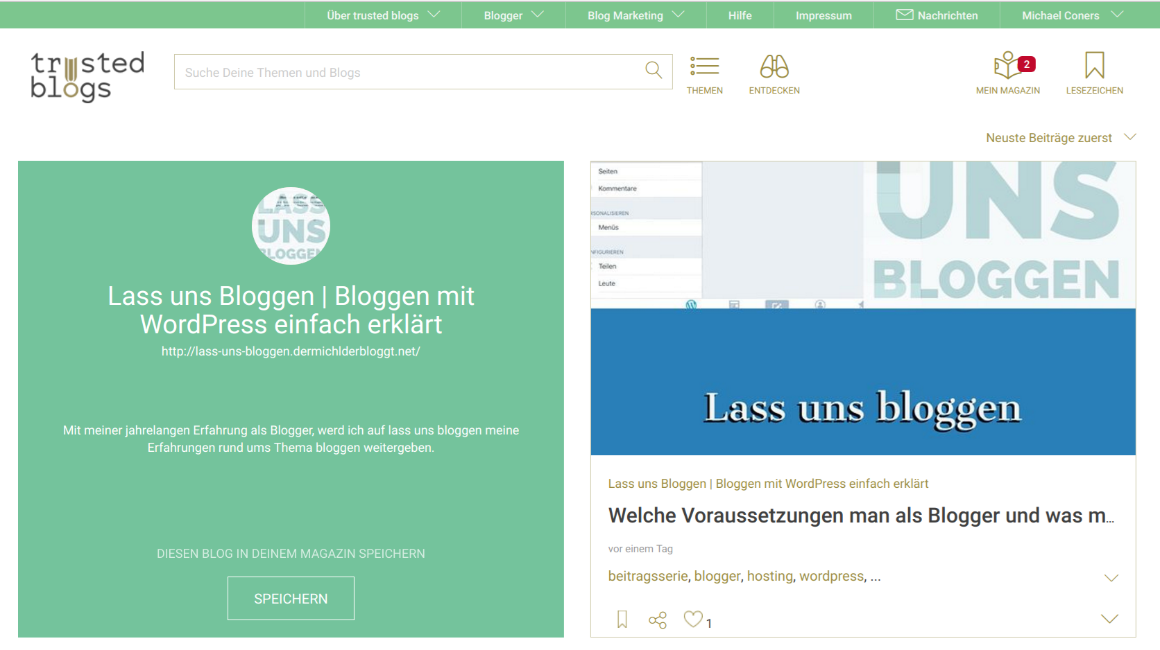 Trusted Blogs Erfahrung